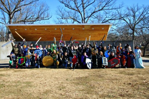 LARPers in costume and setting